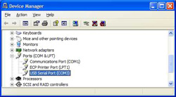 USB Serial Port In Device Manager